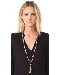 Chan Luu - Metallic Tassel Necklace - Lyst