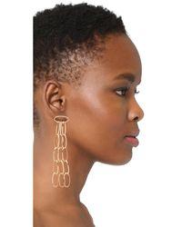 DANNIJO - Metallic Kev Earrings - Lyst