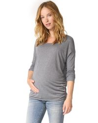 Ingrid & Isabel - Gray Relaxed Pullover - Lyst