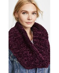 Free People - Purple Love Bug Chenille Cowl Scarf - Lyst