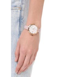 Kate Spade - Pink Park Row Leather Watch - Lyst