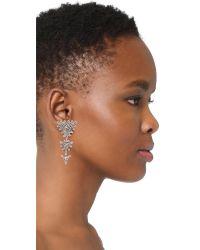 Aaryah - Metallic Trikona Earrings - Lyst
