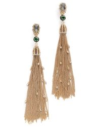 Alexis Bittar | Metallic Cascading Crystal Clip On Tassel Earrings | Lyst