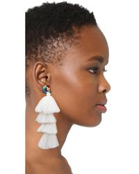 All Things Mochi - White The Ittou Earrings - Lyst