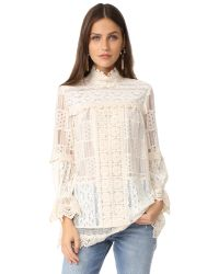 Anna Sui | Natural Lace Tunic | Lyst