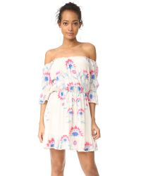 Athena Procopiou | Multicolor Flower Child Short Dress | Lyst
