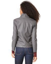 BB Dakota - Gray Carmen Vegan Leather Jacket - Lyst