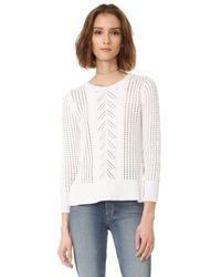 BB Dakota | White Jack By Addae Drop Needle Sweater | Lyst