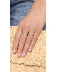 Blanca Monros Gomez | Metallic White Diamond 14-Karat Gold Ring | Lyst