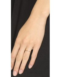 Blanca Monros Gomez - Pink Thin Stacking Band Ring - Lyst