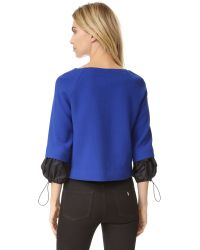 Boutique Moschino - Blue Long Sleeve Top - Lyst