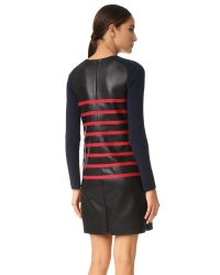 Cedric Charlier - Multicolor Stripe Leather Dress - Lyst