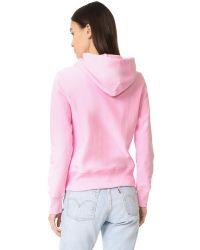 Champion - Pink Hooded Sweatshirt - Lyst