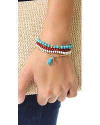 Chan Luu | Blue Stackable Bracelets | Lyst