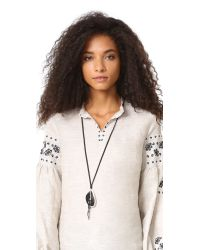 Chan Luu - Black Pendant Stone Necklace - Lyst