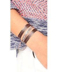 Chan Luu - Multicolor Raw Cut Leather Wrap Bracelet - Lyst