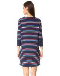 Chinti & Parker | Blue Side Button Breton Dress | Lyst