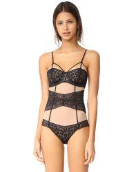 Calvin Klein - Black Tease Unlined Bodysuit - Lyst