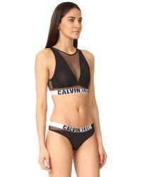 Calvin Klein - Black Calvin Klein Id Unlined Bralette - Lyst