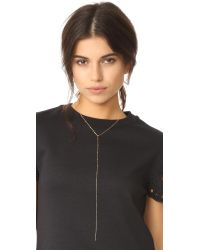 Cloverpost - Metallic Nugget Excess Tight Lariat Necklace - Lyst