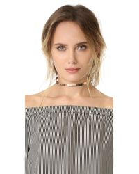 Cloverpost - Pink Gloss Xl Choker Necklace - Lyst