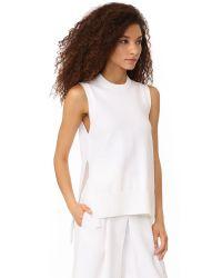 DKNY - White Sleeveless Sweater - Lyst