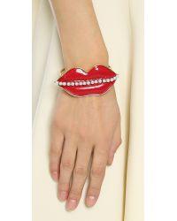 Erickson Beamon - Red So Real Cuff Bracelet - Lyst