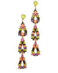 Erickson Beamon - Multicolor Technicolor Earrings - Lyst