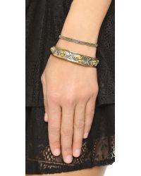 Eddie Borgo - Metallic Pave Id Toggle Bracelet - Lyst