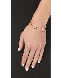 Eddie Borgo - Metallic Inlaid Bicone Hinged Bracelet - Lyst