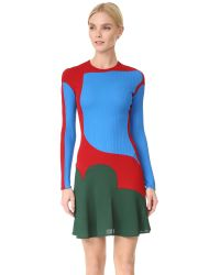 Esteban Cortazar - Green Long Sleeve Mini Dress - Lyst