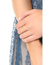 Elizabeth and James - Metallic Aldona Ring - Lyst