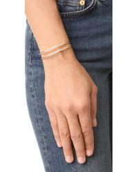 Elizabeth and James - Metallic Selena Cuff Bracelet - Lyst