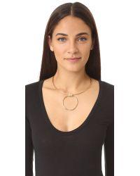 Elizabeth and James - Metallic Gwen Collar Necklace - Lyst