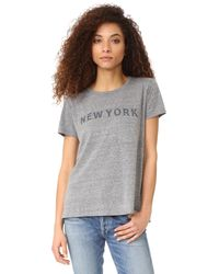 Elizabeth and James | Gray New York Pocket Tee | Lyst