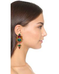 Elizabeth Cole - Green Sunny Ruby Earrings - Lyst