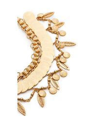 Elizabeth Cole - Metallic Choker Necklace - Lyst