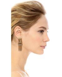 Elizabeth Cole - Metallic Winnie Earrings - Lyst