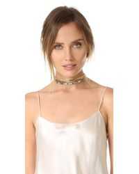 Elizabeth Cole - Multicolor Brix Choker Necklace - Lyst