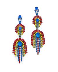 Elizabeth Cole | Multicolor Danica Statement Earrings | Lyst