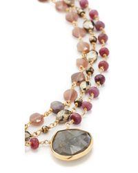 Ela Rae - Brown Multi Choker Necklace - Lyst