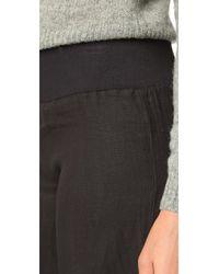 Enza Costa | Black Wide Leg Pants | Lyst
