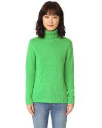 525 America | Blue Turtleneck Sweater | Lyst