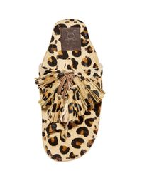 Figue | Multicolor Leopard Haircalf Sandals | Lyst