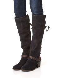 Freebird by Steven - Blue Coal Tall Boots - Lyst