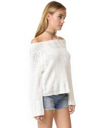Free People   Multicolor Beachy Slouchy Pullover Sweater   Lyst