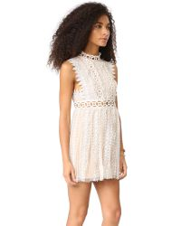 Free People - Blue Forever Lace Babydoll Dress - Lyst