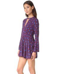 Free People - Multicolor Tegan Printed Mini Dress - Lyst