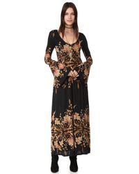 Free People | Multicolor Midnight Garden Maxi Dress | Lyst