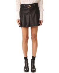 Free People | Black Vegan Leather But I Love It Skirt | Lyst